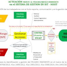 La Tarea de Alto Riesgo conlleva a Riesgos Inminentes (Condiciones y/o Actos) y este requiere responsabilidades específicas dentro del Sistema de Gestión de Seguridad y Salud en el Trabajo SGSST Decreto 1443 de 2014